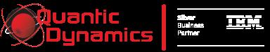 Quantic Dynamics IBM Silver Business Partner Logo 2.0 White